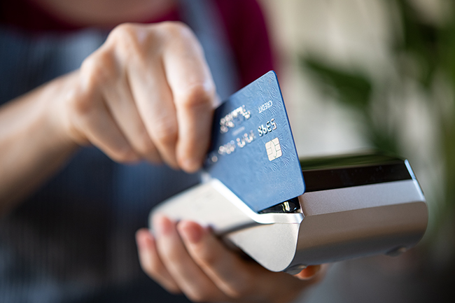A payment made with a credit card.